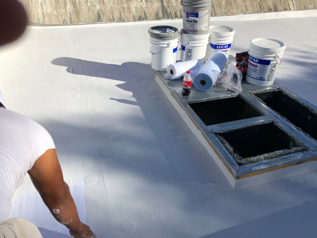 Ask for a liquid-applied roof sealant on your home or business